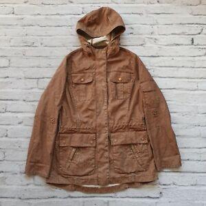 d0042223662 Details about Barbour Wax Cotton Hooded Parka Jacket Womens Size 6