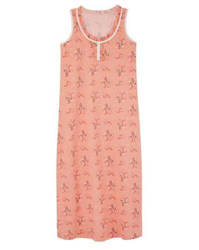 Mesdames simplement être Pretty secrets Long Orange Floral Chemise De Nuit Taille UK 12-14