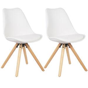 Esszimmerstühle 2er Esszimmerstuhl Kunstleder Design Stuhl Küchenstuhl BH52ws-2