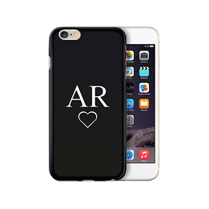 HAIRYWORM-PERSONALIZED-WHITE-HEART-INITIALS-ON-BLACK-SILICONE-GEL-PHONE-CASE