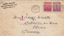 Lettre United State MONROE Montclair ARMY NAVY DEFENSE   Germany War Cover