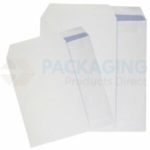 100 x C5/A5 PLAIN WHITE SELF SEAL ENVELOPES 90gsm SS 5056062688682