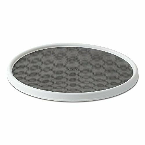 Copco 255-0186 Non-Skid Pantry Cabinet Lazy Susan Turntable 18 White//Gray