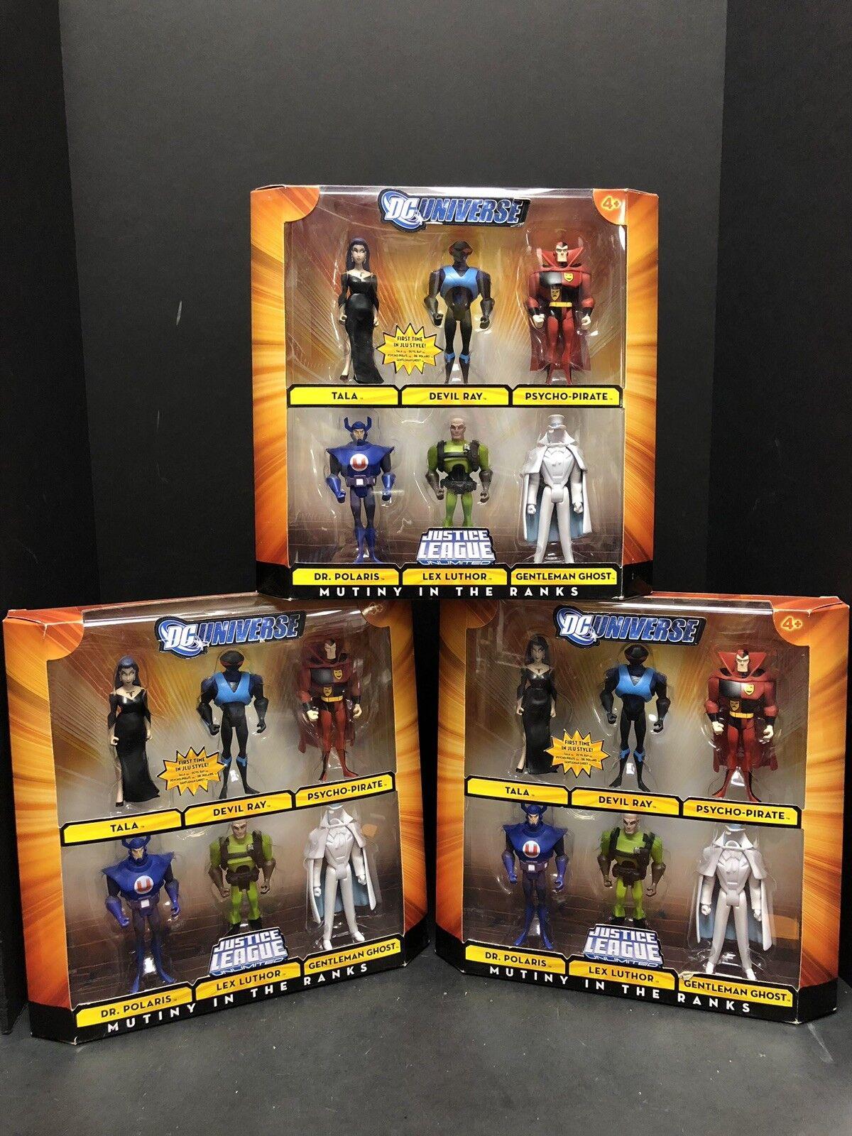 DC Universo Liga De La Justicia motín en las filas 6 Figura Set Lote De 3 ATL0702