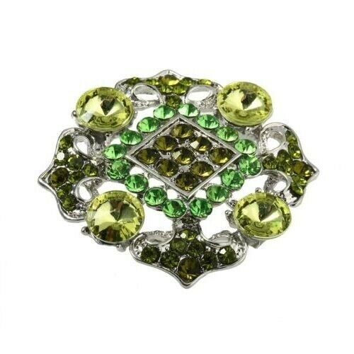 3 Farben wählbar Statement Pin XL geometrische Form TOP Kristalle Brosche
