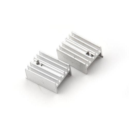 10x ALUMINIUMKÜHLER Kühlkörper-Sets für to-220 Transistor 20x15x10mm APFBB HN