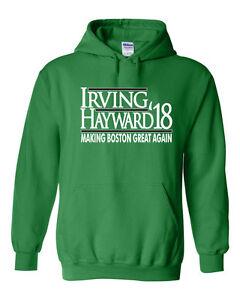 "Kyrie Irving Boston Celtics ""Irving Hayward 18""  jersey shirt Hooded SWEATSHIRT"
