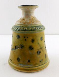 Studio-Art-Pottery-Abstract-Motif-Vase-or-Vessel-Arrow-Swirl-Signed-Modern-2001