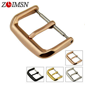 Watch-Band-Strap-Buckle-Polished-Stainless-Steel-Clasp-10-12-14-16-18-20-22-24mm