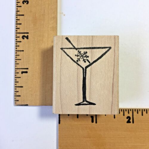 Impress Rubber Stamp - Snow Cocktail - NEW