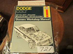 details about haynes service repair manual dodge colt 1971 - 1977 all  models wiring diagrams