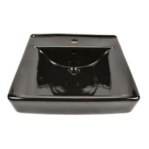 Kohler K 2084 7 2084 7 Soho Ceramic 20 Quot Black Wall Mount Bathroom Sink Ebay