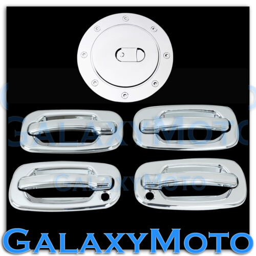 Chevy Tahoe+Suburban Triple Chrome ABS 4 Door Handle+PSG KH+Gas Cover Kit Set