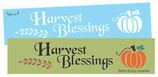 Lg Primitive Fall STENCIL Harvest Blessings Country Pumpkin Willow Sign U Paint