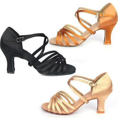 Hot Sale 7cm High Heel Adult Female Latin Modern Ballroom Dancing Shoes MSUK