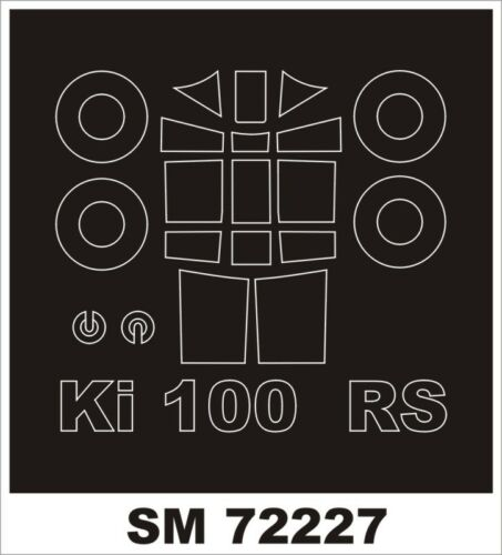 Montex Mini Mask 1:72 Ki-100 for RS Model Kit Spraying Stencil #SM72227