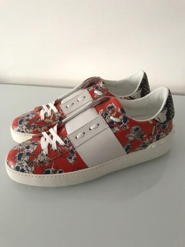 floreale pelle in Rockstud Open aperto Sneaker Valentino 39 multicolor OqzAn