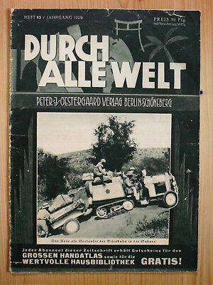 1929 Durch Alle Welt Heft 43 / Brasilien Odenwald Marokko Panama Luxemburg Uvm.