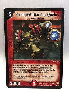 Armored-Warrior-Quelos-34-55-Duel-Maitres-Trading-Carte-Jeu-Simple-Carte