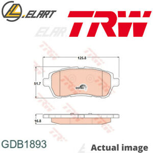 DISC BRAKE PADS SET  FOR FORD FIESTA VI U5JA F6JD KVJA STJA STJB SNJA TRW