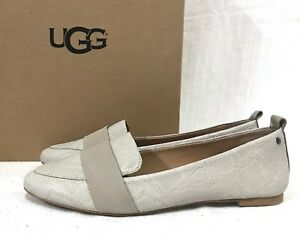 7339778df336a Details about WOMENS SIZE 9.5 CERAMIC UGG 1015058 JONETTE SNAKE NUBUCK  LEATHER SLIP ON FLATS