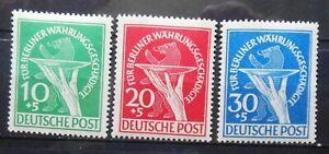 GERMANY-BERLIN-RELIEF-FUND-1949-MI-68-70-MLH-RARE