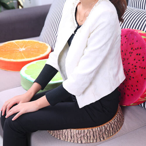Casual Round Cushion Chair Seat Pads Donut Fruit Shape Plush Pillows Kid Toys