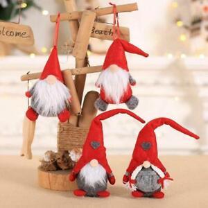Xmas-Swedish-Gnome-Santa-Plush-Doll-Ornaments-Tree-Home-Decor-Kids-Toy-Gift-New
