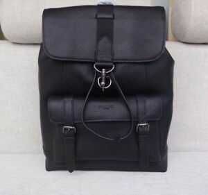 COACH-MENS-Black-Leather-Backpack-F29523