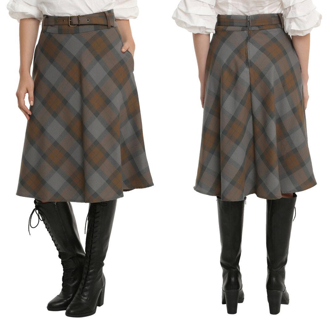 NWT Hot Topic  Outlander  Claire Fraser Jamie Plaid Tartan Skirt Kilt - Medium