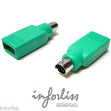 adaptador Ps2 Macho a USB hembra - teclado raton - REF. 130019