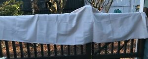 """vintage beige chambray heather beige tablecloth made in the USA 60"""" x 102"""""""