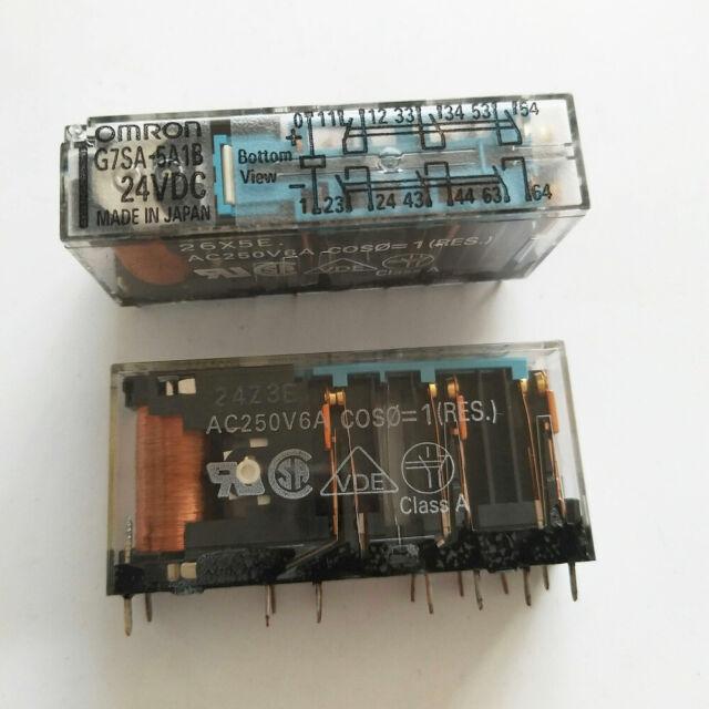 Omron G7sa-5a1b Relay Safety Rated 24vdc Coil 5n0/ 1nc 14 Pin on