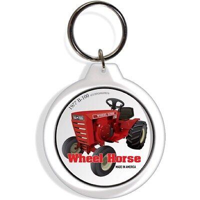 Wheel Horse B Garden Farm Tractor Keychain Key Chain Ring Kohler Engine Gift