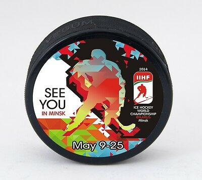 Ice Hockey World Championship BELARUS MINSK 2014 official souvenir Puck