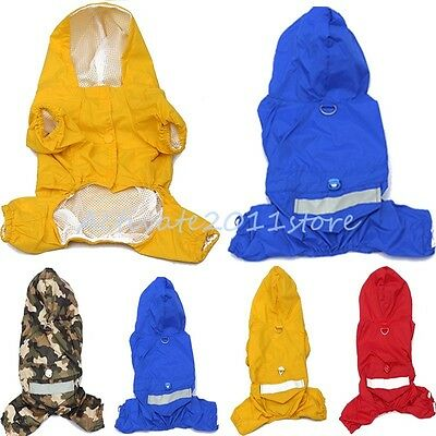 Hot Selling Pet Dog Rain Coat Clothes Dogs Puppy Casual Waterproof Jacket Hoodie