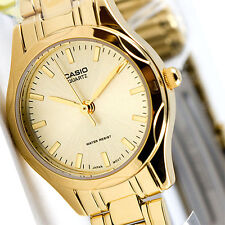 Casio LTP1275G-9A Womens Gold Stainless Steel Watch Casual Quartz Dress New