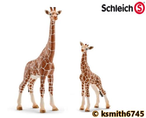 NEW Schleich GIRAFFE /& CALF solid plastic toy wild zoo African animal baby