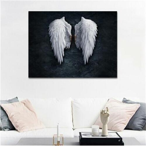 White Wings Angel Wings Oil Painting Modern Home Office Decor Hanging Picture HD