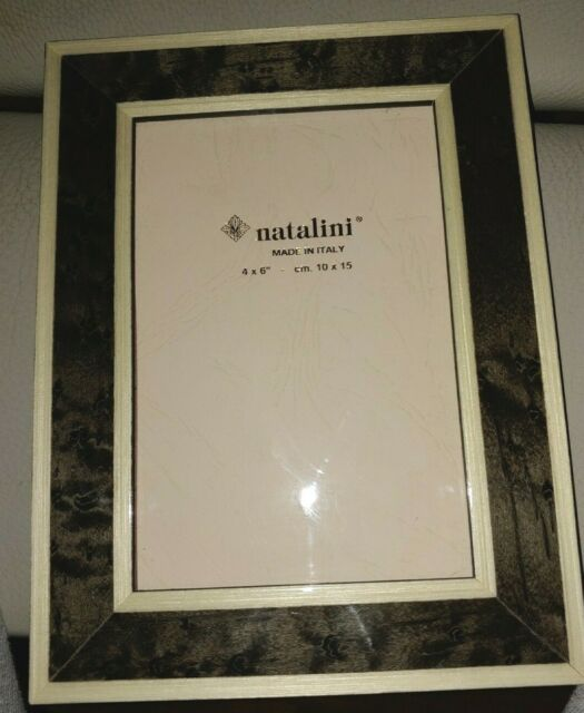 NATALINI Italian Handcrafted Wood Picture Frame 4x6 NEW black gray