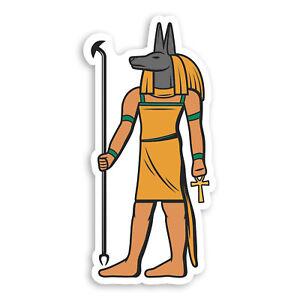 2-x-10cm-Anubis-Death-God-Vinyl-Stickers-Ancient-Egypt-Luggage-Sticker-20713