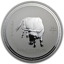 2009 Australia 1 kilo Silver Year of the Ox BU (Series I) - SKU #26717