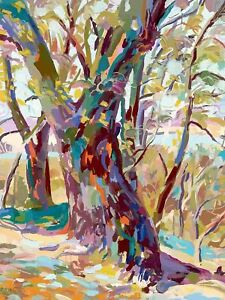 PAINTING-MULTICOLOURED-TREES-BRANCHES-FOREST-ART-PRINT-MP5408A
