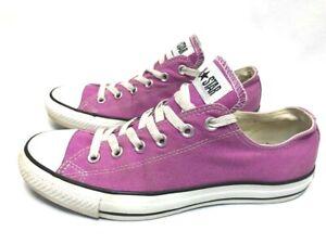 53ff72c8996c Converse All Star Shoes Unisex Low Purple Lavender White Sneakers Sz ...
