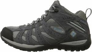 Columbia-Women-039-s-Redmond-Mid-Waterproof-Hiking-Boot-Breathable-Blue-Size-6-5