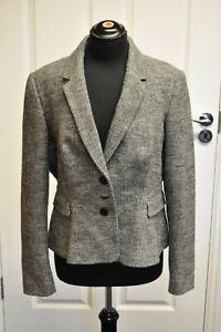 Women-039-s-Hobbs-Herringbone-Jacket-Coat-Blazer-size-16