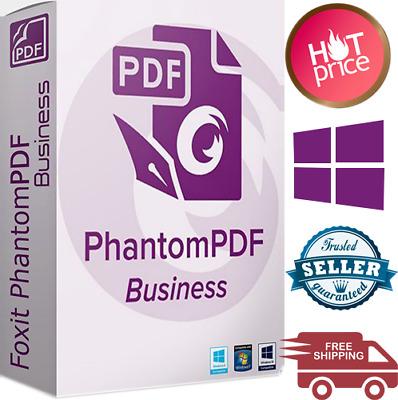 Foxit PhantomPDF Business Edition 2020✔️Lifetime License✔️