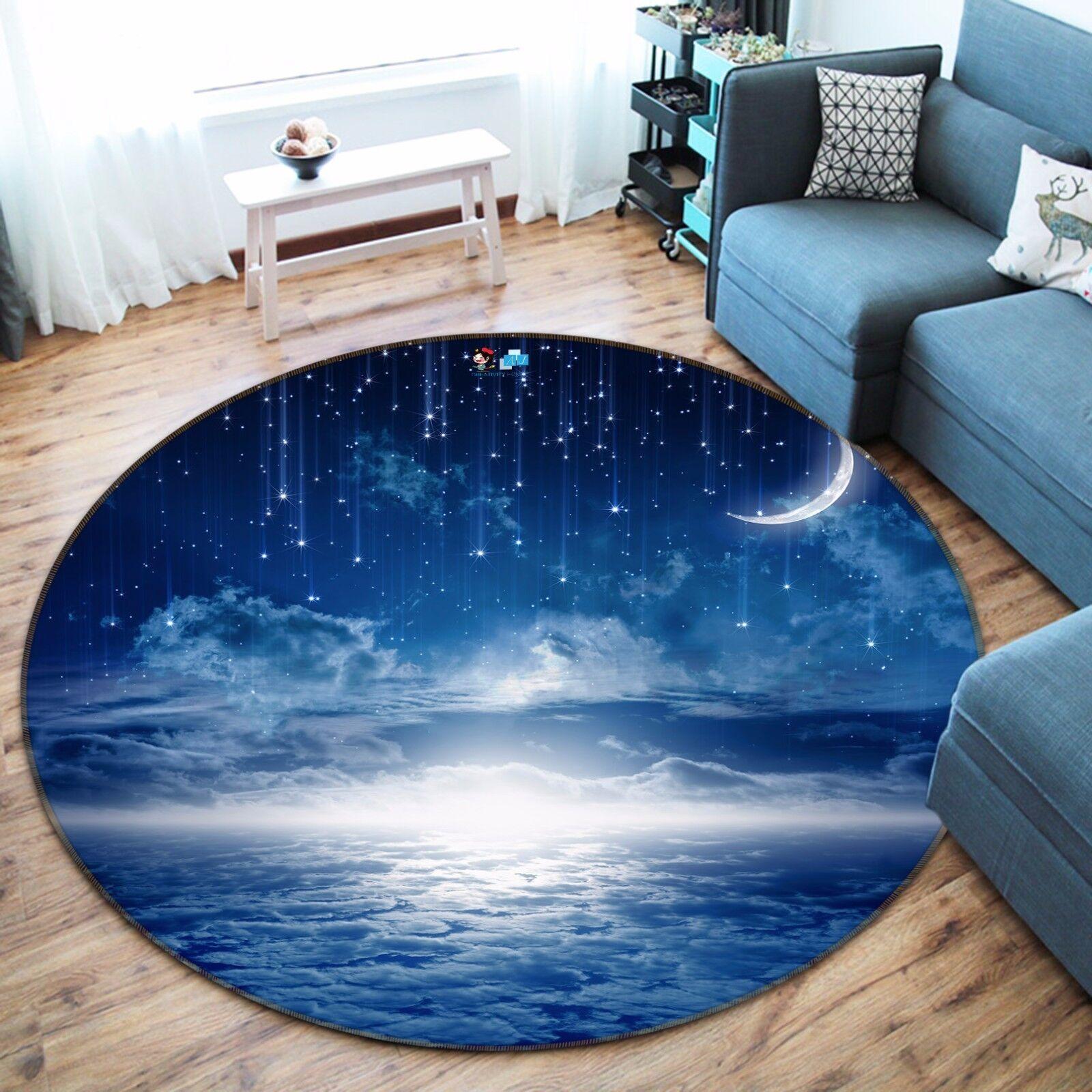 3D Meteor Moon Sky 843 Non Slip Rug Mat Room Mat Round Elegant Photo Carpet CA