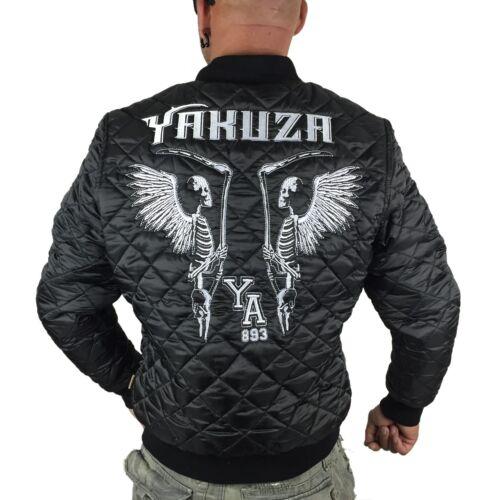 "YAKUZA schwarz Herren Quilted Jacket Steppjacke JB 9045 /""Skeleton/"" black"