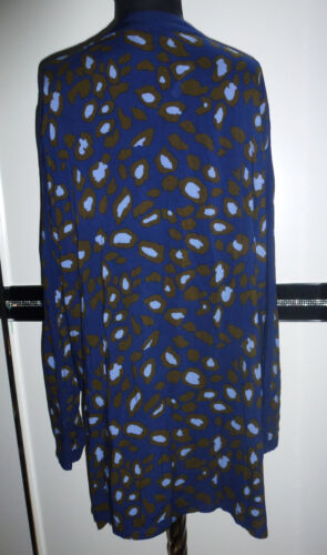 48//50 52//54 56//58 ❤️ Damen Long Bluse Jacke Blusenjacke Blouson Blazer blau Gr